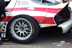 Damage on the American Viperacing Dodge Viper GTS-R