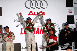 The podium: race winners Tom Kristensen and Rinaldo Capello