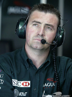 Eddie Irvine's chief mechanic Alan Maybin