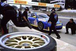 The Racer's Group Porsche 911 GT3-RS in the pit