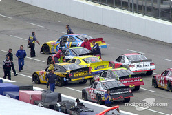 Parking the cars for the mechanics to take back to the garage