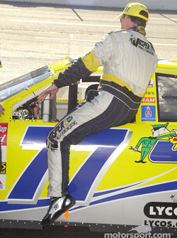 Dave Blaney climbs in