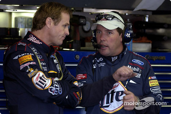 Rusty Wallace with crew chief Bill Willburn