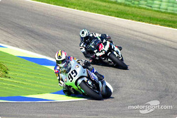 Jeremy McWilliams leads Alex Barros