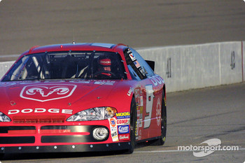 Bill Elliott brigs his Dodge to the crew