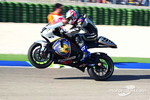 Jeremy McWilliams wheelies after race