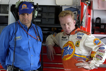 Ricky Craven chats with team owner Call Wells