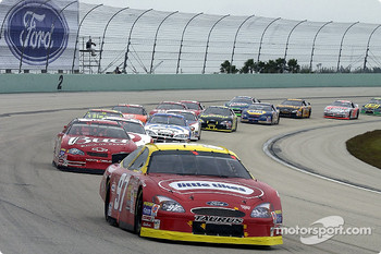 Kurt Busch leads Dale Earnhardt Jr.