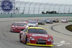 Kurt Busch leads Dale Earnhardt Jr.