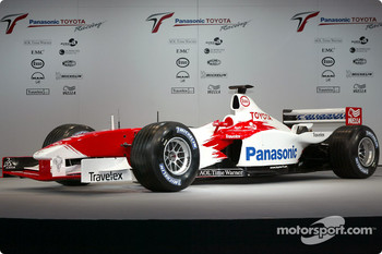 The new 2003 Toyota Racing TF103 presentation