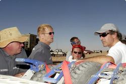 Ari Vatanen at the bivouac