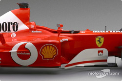 Detail of the new Ferrari F2003-GA