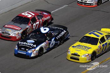 Kurt Busch, Mark Martin and Dave Blaney