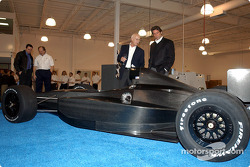 Falcon Cars President Michael Kranefuss and Tony George