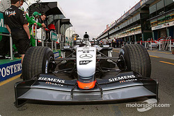 McLaren in the technical inspection lineup