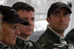 Johnny Herbert, Mark Blundell and David Brabham