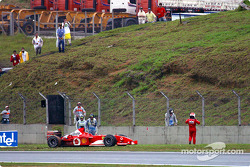 Rubens Barrichello out of the race