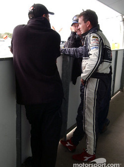 Team Kiwi driver Craig Baird receiving some advise