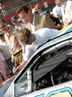 Arnold Schwarzenegger, Jamie McMurray and the T3 car