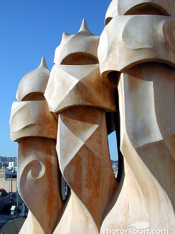 Part of Gaudi's rooftop at 'La Pedrera'
