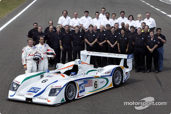 The Team ADT Champion Racing for the 2003 Le Mans 24 Hour race: J.J. Lehto and Emanuele Pirro