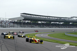 Pace lap: Mark Taylor and Ed Carpenter lead the field