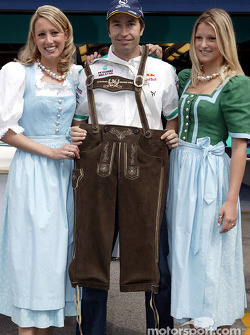 Heinz-Harald Frentzen and his lederhosen