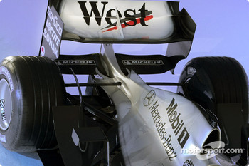 Detail of the new McLaren Mercedes MP4-18