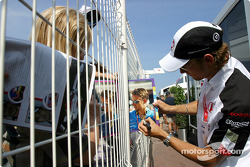 Autograph session for Jenson Button