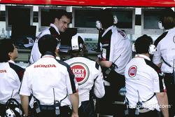 Jenson Button at BAR pitwall