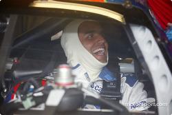 Juan Pablo Montoya having a blast at Indy
