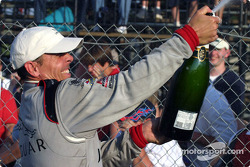 Podium: champagne for race winner Scott Pruett