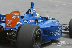 Alex Tagliani in trouble on pitlane