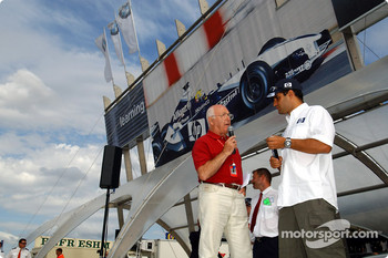 Juan Pablo Montoya interviewed by Murray Walker