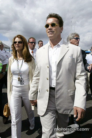 Arnold Schwarzenegger with wife Maria