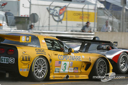 #10 JML Panoz LMP01: Olivier Beretta, David Saelens, and #3 Corvette Racing Chevrolet Corvette C5-R: Ron Fellows, Johnny O'Connell