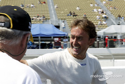 Drivers share a laugh before the race