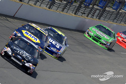 Matt Kenseth, Michael Waltrip and Jimmie Johnson