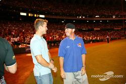 Visit at a St. Louis Cardinals baseball game: Alex Barron and Buddy Rice