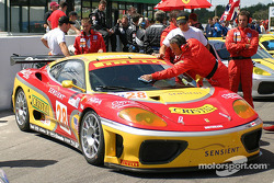 #28 JMB Racing USA / Team Ferrari Ferrari 360 Modena on the starting grid