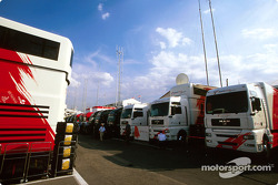 Toyota paddock area
