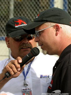 Trans-Am's Greg Creamer and MotoRock Chairman and CEO Jamie Rose