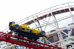 Ralph Firman is given a high adrenaline ride in a Jordan Ford EJ13 on the