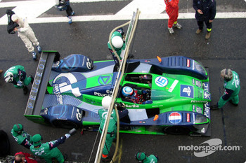Pitstop for Pescarolo Sport Courage C60-Peugeot: Franck Lagorce, Stephane Sarrazin