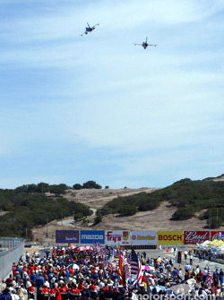 Pre-race ceremony: fly-over