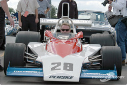 David Donohue in his fathers Penske PC3