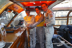 Press conference in Zandvoort: Christijan Albers, Jeroen Bleekemolen and Peter Terting