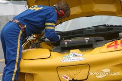 Pitstop for #46 Michael Baughman Racing Firebird: Frank DelVecchio, Michael Baughman