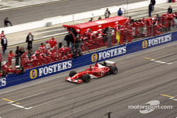 Michael Schumacher celebrates