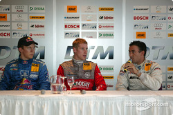 Press conference: Mattias Ekström, Peter Dumbreck and Jean Alesi